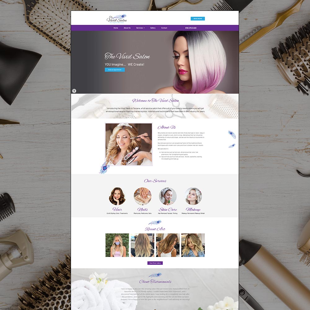 website-design-tarzana-hair-salon