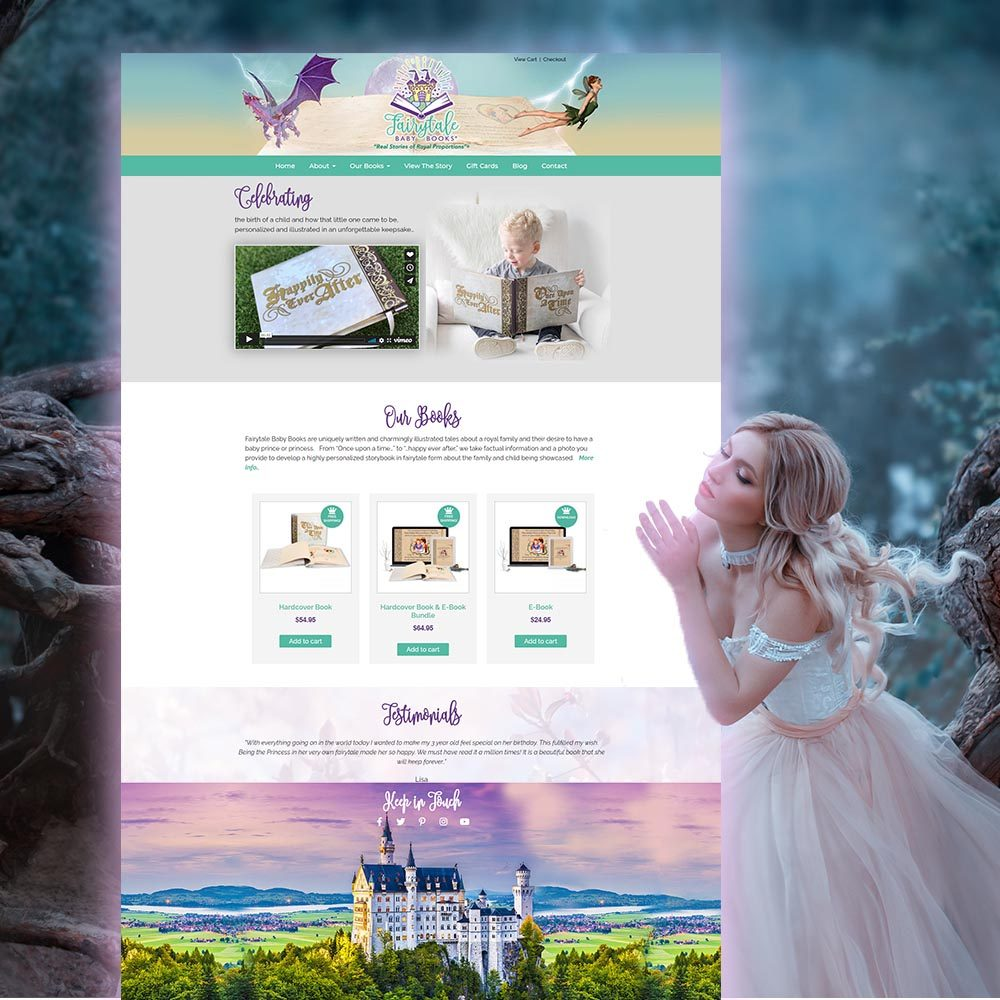 Website design- fairytale